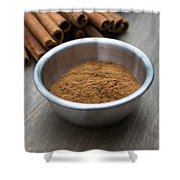 Cinnamon Spice Shower Curtain by Edward Fielding