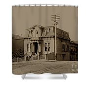 Clay And Hyde Street's San Francisco Built In 1874 Burned In The 1906 Fire Shower Curtain by California Views Mr Pat Hathaway Archives