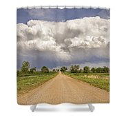 Colorado Country Road Stormin Skies Shower Curtain by James BO  Insogna