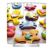 Colorful Cookies Shower Curtain by Carlos Caetano