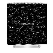 Constellations Shower Curtain by Taylan Soyturk