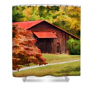 Country Charm Shower Curtain by Darren Fisher