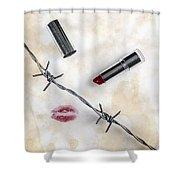 Dangerous Kisses Shower Curtain by Joana Kruse