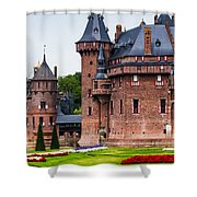 De Haar Castle. Utrecht. Netherlands Shower Curtain by Jenny Rainbow