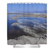 Dead Sea Landscape Shower Curtain by Dan Yeger