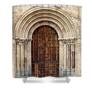 Door Shower Curtain by Frank Tschakert