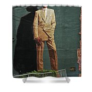 Dr. J. Shower Curtain by Allen Beatty