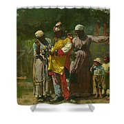 Dressing for the Carnival Shower Curtain by Winslow Homer