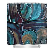 Earth Tones Shower Curtain by Donna Blackhall