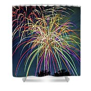 Fireworks Shower Curtain by Michael Shake