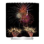 Fireworks  Shower Curtain by Saija  Lehtonen
