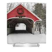 Flume Covered Bridge - White Mountains New Hampshire Usa Shower Curtain by Erin Paul Donovan