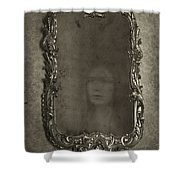 Ghost Of A Woman Reflected In A Mirror Shower Curtain by Lee Avison