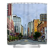 Give My Regards to Broad Street Shower Curtain by Bill Cannon