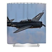 Grumman Tbm-3e Avenger Shower Curtain by Tommy Anderson