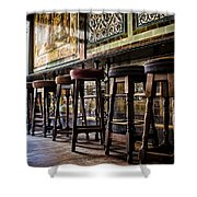 Have A Seat Shower Curtain by Heather Applegate