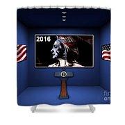 Hillary 2016 Shower Curtain by Marvin Blaine