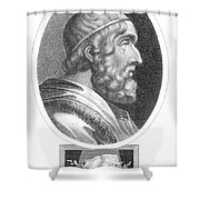 Homer, Ancient Greek Epic Poet Shower Curtain by Photo Researchers