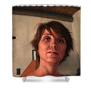Indian Lodge Shower Curtain by James W Johnson