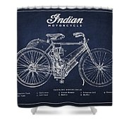 Indian motorcycle Shower Curtain by Aged Pixel