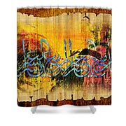 Islamic Calligraphy 028 Shower Curtain by Catf