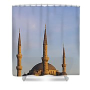 Islamic Mosque At Sunset Istanbul Shower Curtain by Mark Thomas