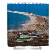 Israel Dead Sea  Shower Curtain by Dan Yeger