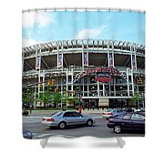 Jacobs Field - Cleveland Indians Shower Curtain by Frank Romeo
