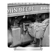 John Deere Diesel Shower Curtain by Susan Candelario