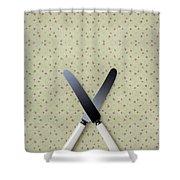Knives Shower Curtain by Joana Kruse