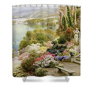 Lake Maggiore Shower Curtain by Ebenezer Wake-Cook