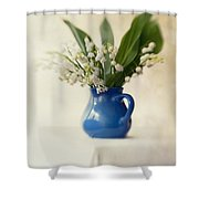 Lilly Of The Valley Shower Curtain by Jaroslaw Blaminsky