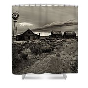 Lonely House on the Prairie Shower Curtain by Mike  Dawson
