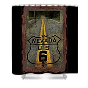 Lost Highway Shower Curtain by John Stephens