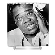 Louis Armstrong (1900-1971) Shower Curtain by Granger