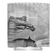 Martin Luther King Jr Memorial Shower Curtain by Allen Beatty