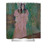 May Belfort Shower Curtain by Henri de Toulouse-lautrec