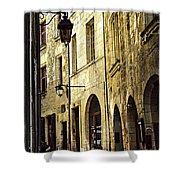 Medieval Street In France Shower Curtain by Elena Elisseeva
