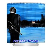 Memphis Dream With B B King Shower Curtain by Mark Moore