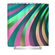 Metallic Swirls 2 Shower Curtain by Hakon Soreide