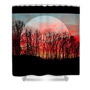 Moon Dance Shower Curtain by Karen Wiles
