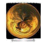 Morphed Art Globe 7 Shower Curtain by Rhonda Barrett
