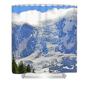Mount Adams Shower Curtain by Roger Reeves  and Terrie Heslop