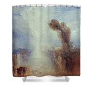 Neapolitan Fisher Girls Surprised Bathing By Moonlight Shower Curtain by Joseph Mallord William Turner