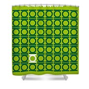No120 My Green Lantern Minimal Movie Poster Shower Curtain by Chungkong Art
