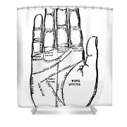 Palmistry Chart, 1885 Shower Curtain by Granger