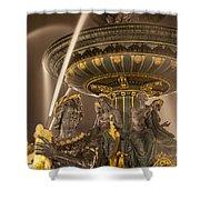 Paris Fountain Shower Curtain by Brian Jannsen