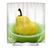 Pear Still Life Shower Curtain by Edward Fielding