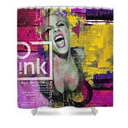Pink Shower Curtain by Corporate Art Task Force
