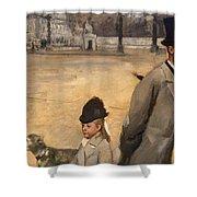 Place De La Concorde Shower Curtain by Edgar Degas